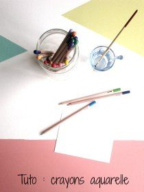 Tuto crayons aquarelle                                                                                                                                                                                 Plus