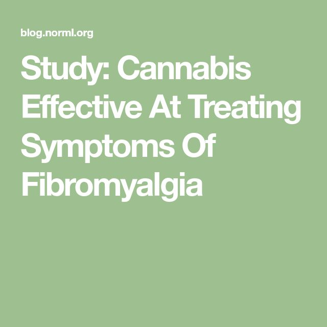 Study: Cannabis Effective At Treating Symptoms Of Fibromyalgia