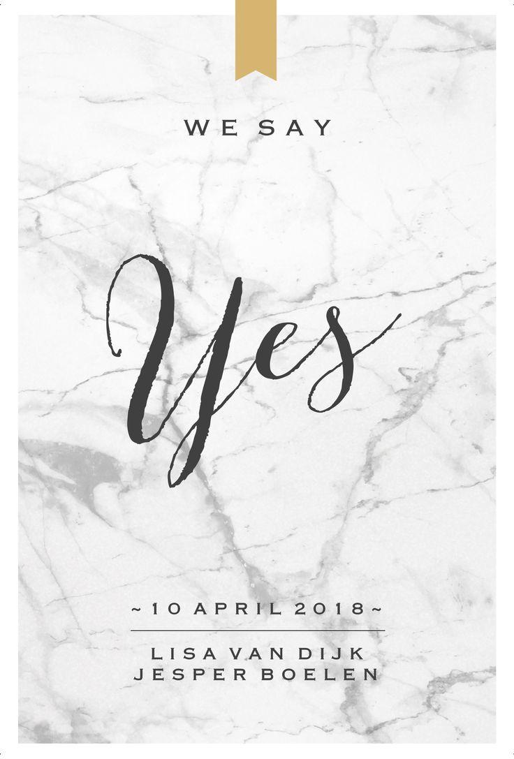 #chique #zelf #maken #goud #trouwkaart #trouwuitnodiging #trouwen #marble #marmer #bruiloft #wedding #bruid #huwelijk #bruidspaar