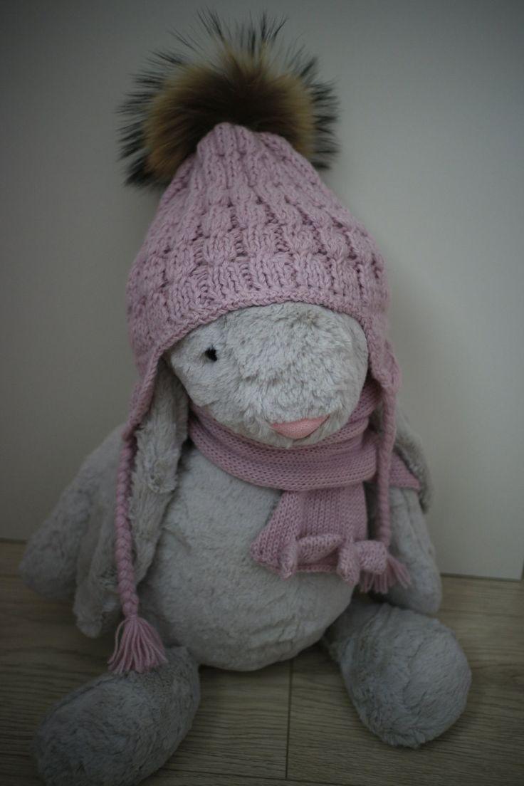 Fur pom pom beanie for kids. Kids winter beanie. Girls warm cap. Alpaca winter…