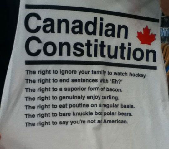 Canada's Constitution - in honor of my Canadian husband.