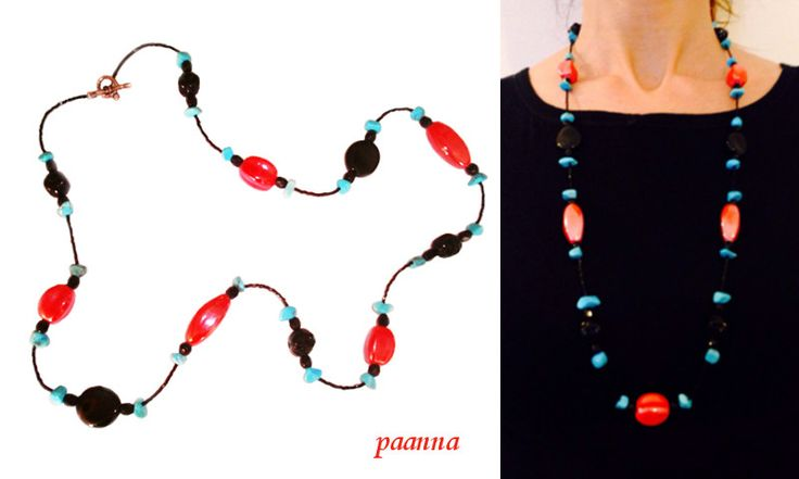 Collana Aglais io by Paanna su DaWanda.com  Collana Lunga Perline. Long Necklace Beads. Necklace to any outfit. Timeless Necklace. Collana Beads Glass and Ceramic.