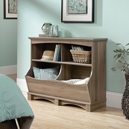 Sauder Harbor View Bin Bookcase, Salt Oak Finish #Sauder