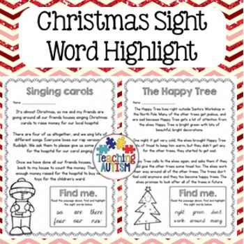 121 best Christmas Sight Word Plans images on Pinterest  Sight