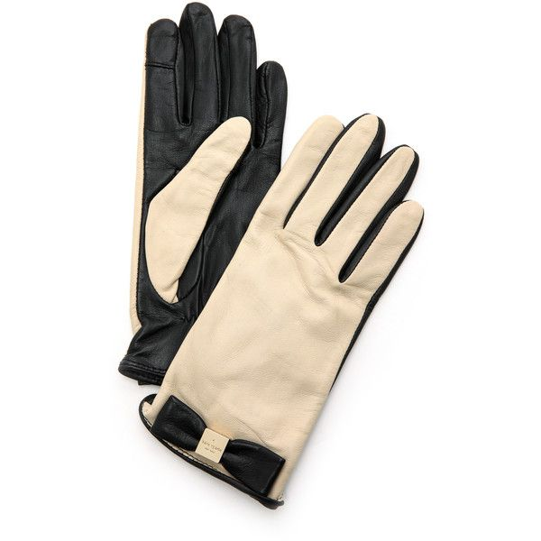 Kate Spade New York Bow Logo Gloves - Deco Beige/Black and other apparel, accessories and trends. Browse and shop 7 related looks.