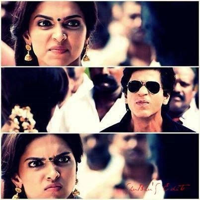 chennai express-such great expression by deepika. Totally girl crush her.