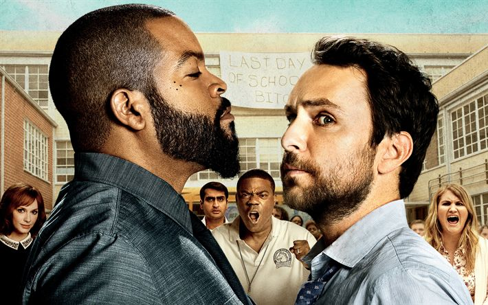 Download wallpapers Fist Fight, 2017, Ice Cube, Charlie Day, Andy Campbell, Strickland, Comedy film, promo, poster, new movies