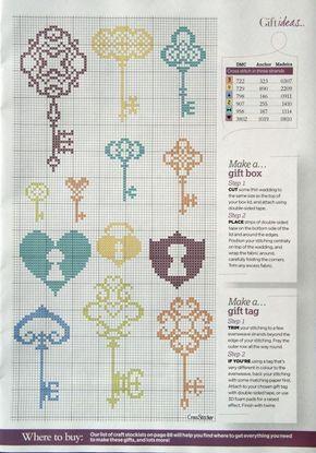 Maison - house - clé - point de croix - cross stitch - Blog : http://broderiemimie44.canalblog.com/