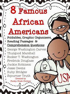 8 Famous African Americans {and a Freebie}... getting lessons ready for February!