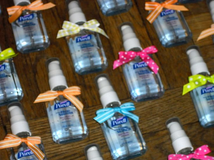 Cutesy Baby Shower Saying For Hand Sanitizer Bottles