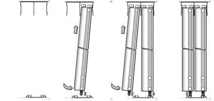 установка дверей-купе Версаль