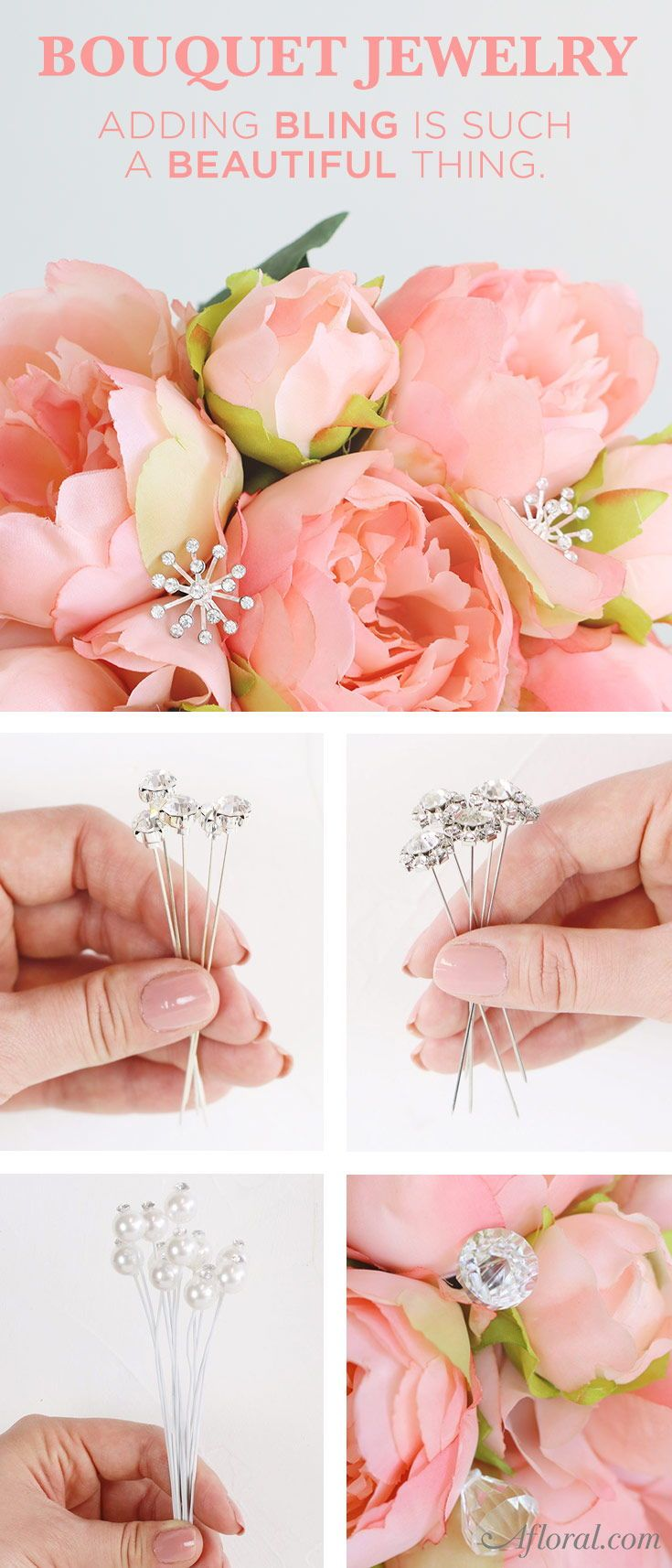 Add Jewelry To Your Wedding Bouquet In 2020 Flower Bouquet