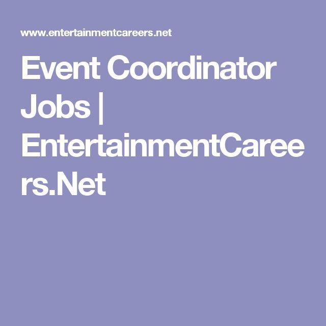 Event Coordinator Jobs   EntertainmentCareers.Net