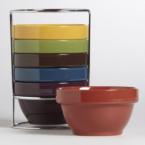 Multicolor Stacking Bowls, Set of 6: Market S Pin, World Market, Worldmarket With Pin, Apartment Ideas, Products, Camping Ideas, Multicolor Stacking, Stacking Bowls
