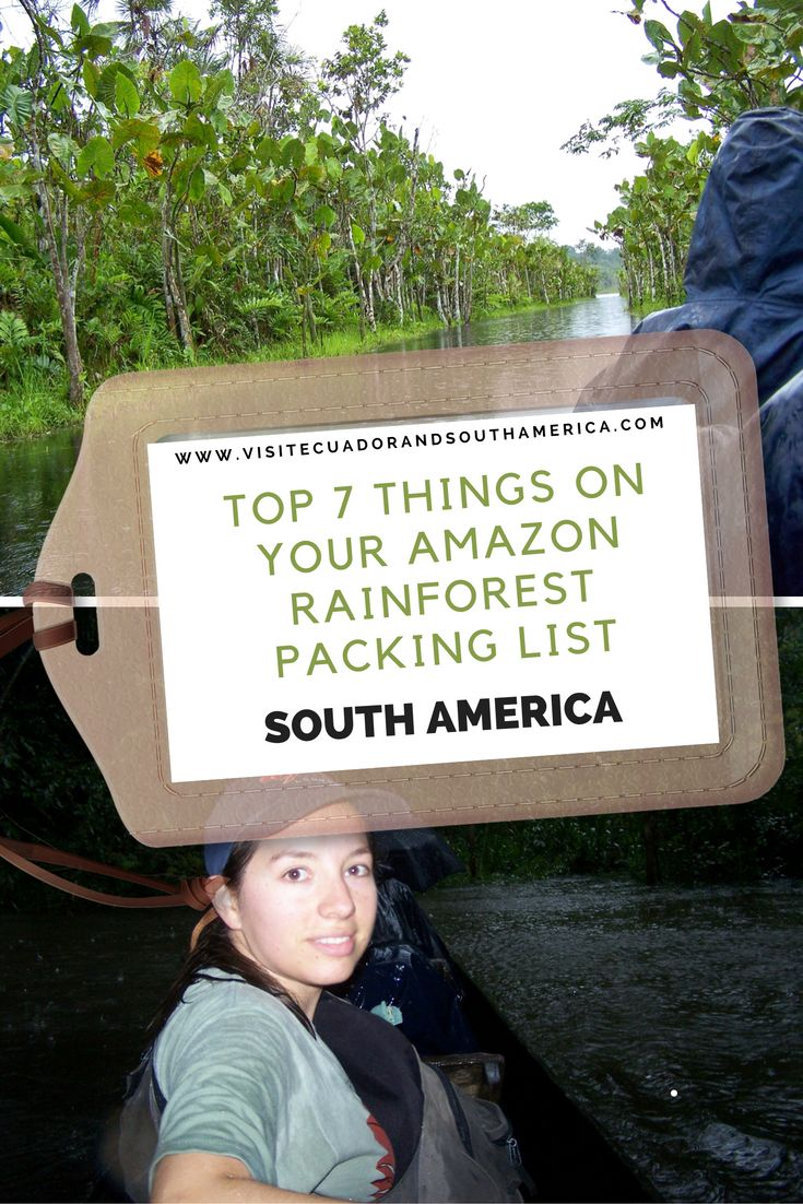 amazon rainforest packing list