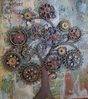cog art tree - could make a junk art tree for the garden1