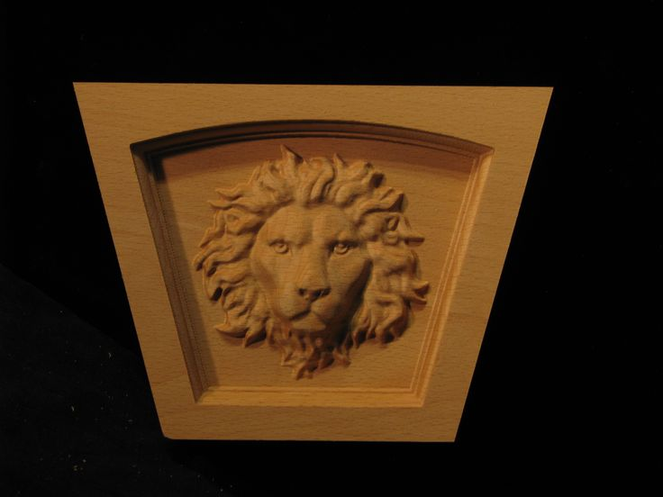 Carved Keystone - Straight Top - Regal Lion