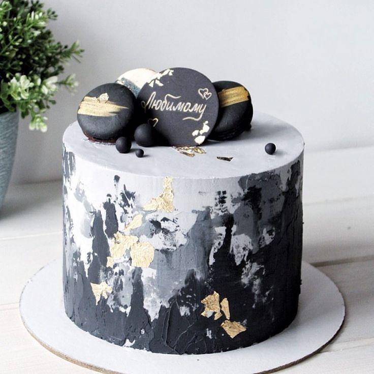 Male Stylish Laconic Inside The Vanilla Cakes Cake Decorating Flowers Butter Cream Cake Designs Birthday