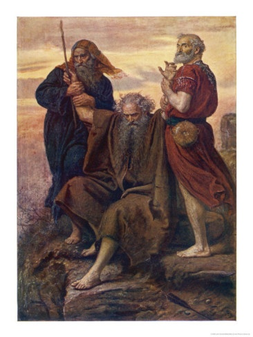 The Israelites are Enabled to Defeat the Amalekites Because Moses Arms are Held up by Aaron and Hur Giclee Print [by John Everett Millais]