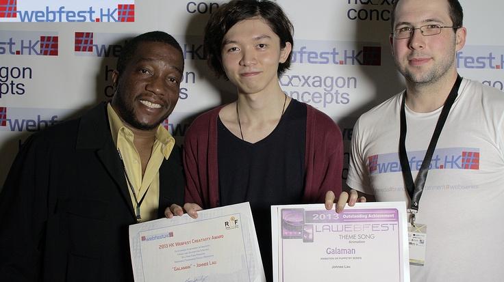 Ecco il vincitore dell'Hong Kong Web Fest che vince l'accesso diretto alla nostra selezione finale il 27/28 e 28 settembre qui a Roma. Lui è Johnee Lau creatrice della web serie Galaman, un cartoon satirico!!!