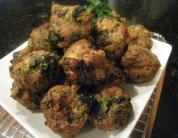 Turkey & Spinach pressure cooker meatballs