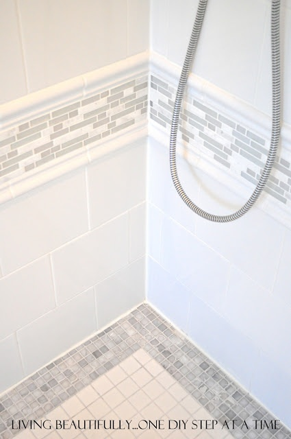 Living Beautifully...One (DIY) Step At A Time: Master Ensuite Reveal! For client of Jil Sonia Interiors.  www.jilsoniainteriors.com