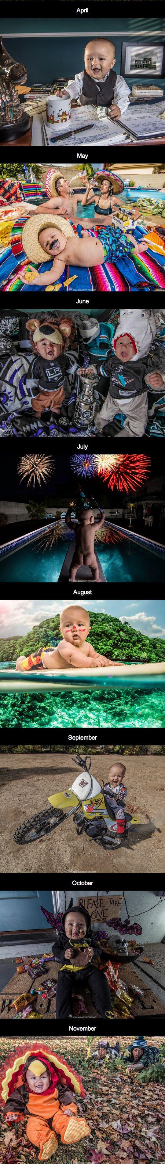 An adorable calendar of a baby! (Click for more!)