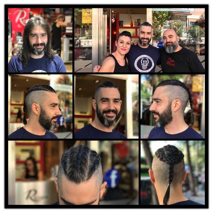 Gran cambio a Miguel, pasando de Jesucristo Superstar a Ragnar Lothbrok. #vikings #viking #vikingos #estilistas #ronco #moda #peluqueros #color #creacion #hair