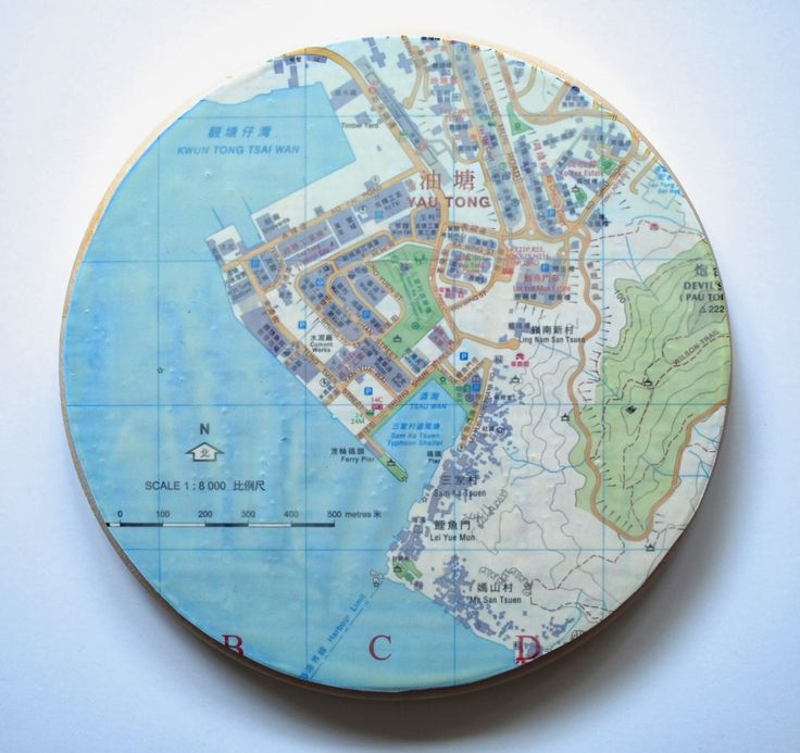 North America Map In 1750%0A Hong Kong Map Series by Artist Allison Plastridge who states    Well  folks