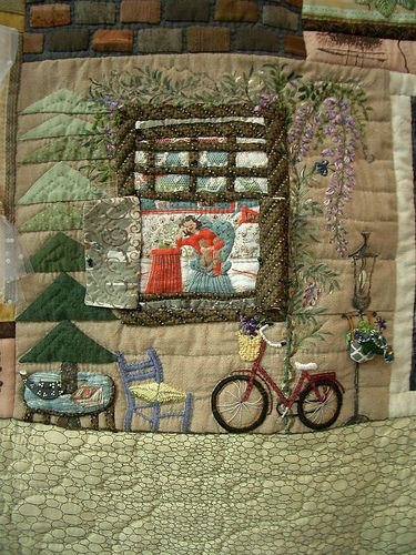 Tokyo International Quilt Festival 2008 by PatchworkPottery, via Flickr  bicycle
