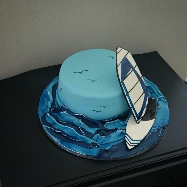 Windsurfing - Cake by nef_cake_deco