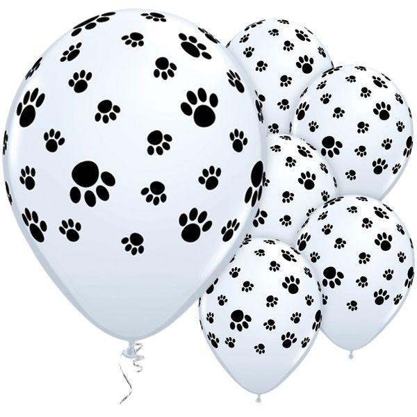 Latex Balloons 11 inch Paw Prints Around £8.49 25pk