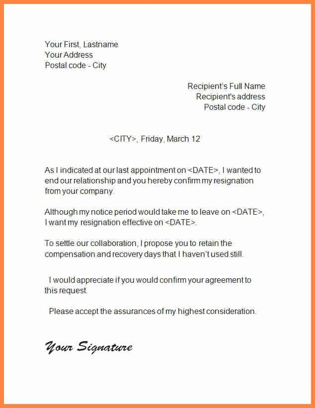 End Of Contract Letter Sample Inspirational Ending A Business Relationship That Has Run Its Course Business Template Lettering Resignation Letter Format