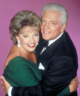 Susan Seaforth Hayes and Bill Hayes as Doug and Julie Williams on Days of Our Lives. Glad to see them back on the show from time to time.