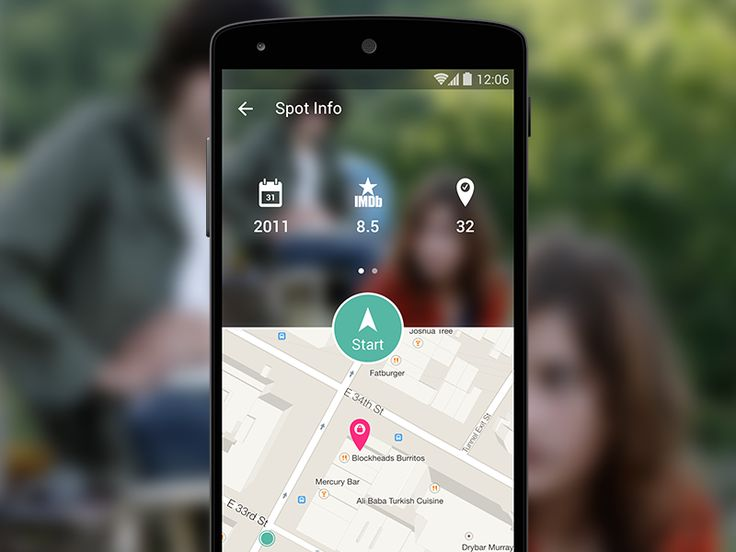 Movie Spot Detail Page for Android