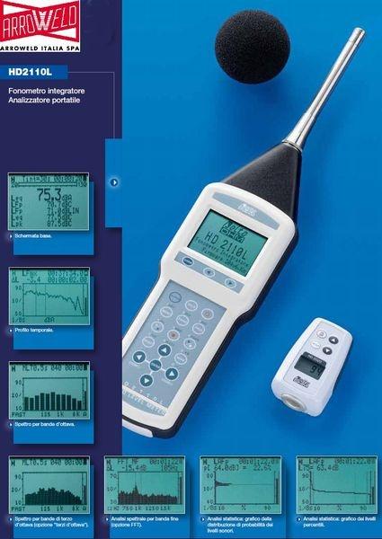 #Fonometro Integratore - #Analizzatore Portatile. L'ARW2110L è un fonometro integratore portatile di #precisione, con funzioni di #datalogging, in grado di effettuare #analisi spettrali e statistiche.