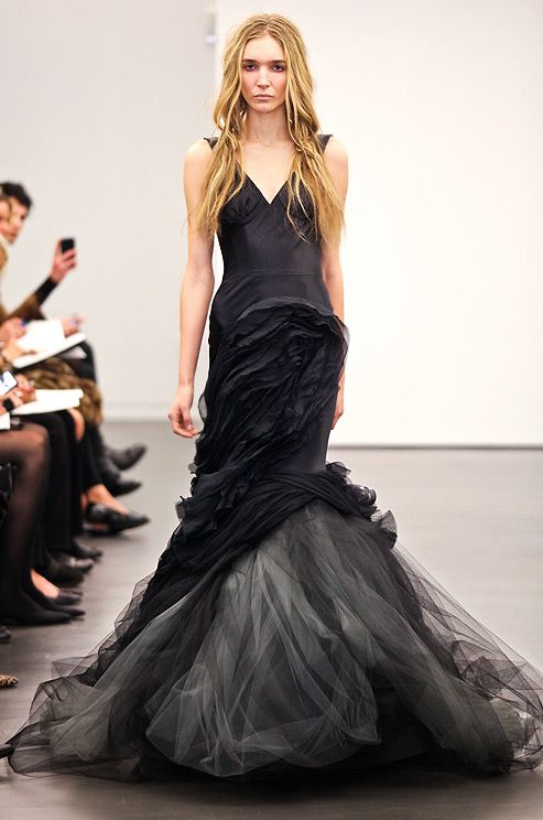 634 best vera wang images on pinterest black man bridal gown i would love to capture a modern bride in a black dress black wedding dress from vera wang fall 2012 junglespirit Images