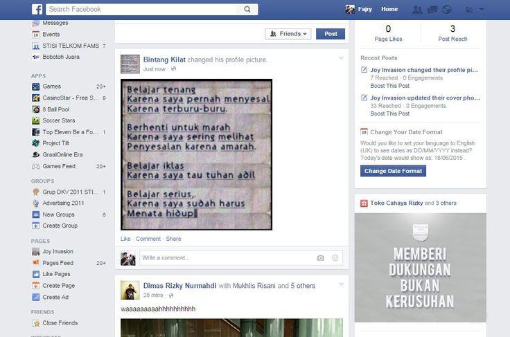 Mockup Web Banner on Facebook