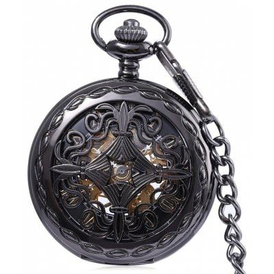 Just US$17.42 + free shipping, buy PC33 Retro Mechanical Hand Wind Pocket Watch online shopping at GearBest.com.