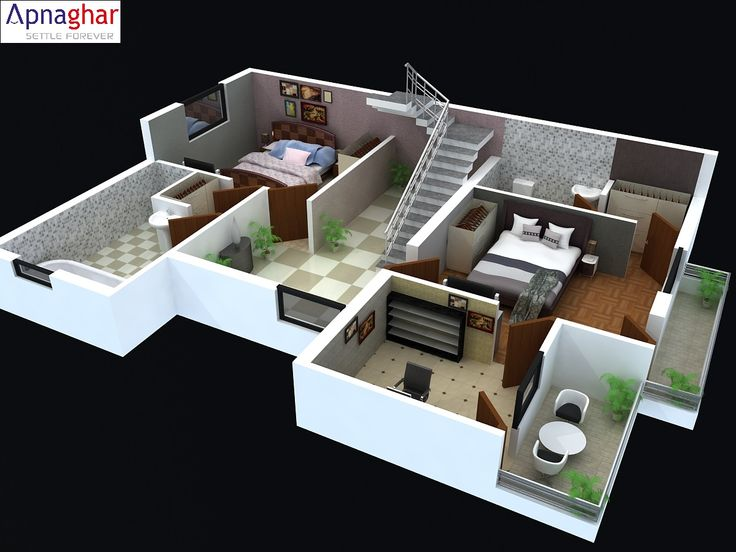 Cut Model Of A 3d Floor Plan Find Related Architectural Drawings At Www Apnaghar