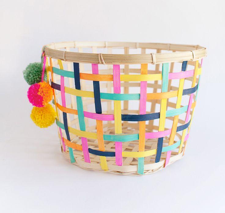cesta-ikea-customizada. #diy #crafts #manualidades #ikea #customizar #personalizar #decoracion #decoration