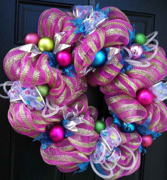 Deco Mesh Christmas/Holiday Wreath
