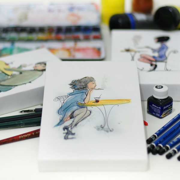 small prints to hang on the wall by Dario Moschetta, via Behance