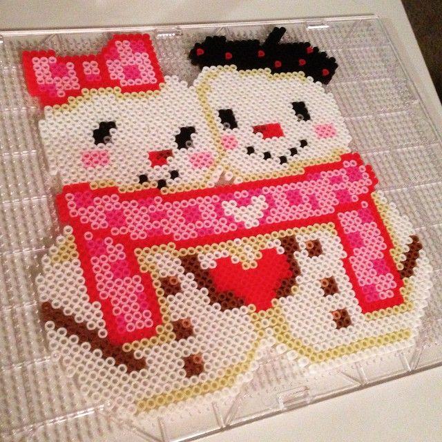 Snowmen perler beads by Blaine Brubaker