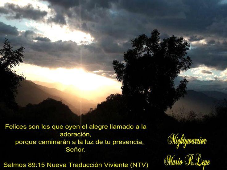 """JESUS PODEROSO GUERRERO: Salmos 89:15~~~ """" Caminando en su presencia """""""