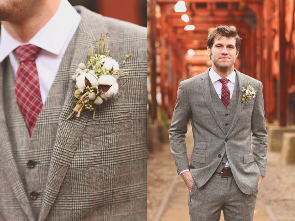 groom suits - photo by J.Woodbery Photography http://ruffledblog.com/alabama-wedding-with-a-vintage-inspired-bridal-party