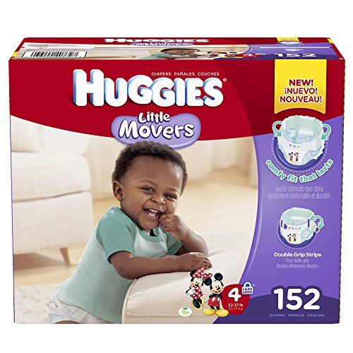 Huggies Little Movers Diapers, Size 4, 152 Count (Packaging May Vary)  http://www.personalcareclub.com/huggies-little-movers-diapers-size-4-152-count-packaging-may-vary-2/