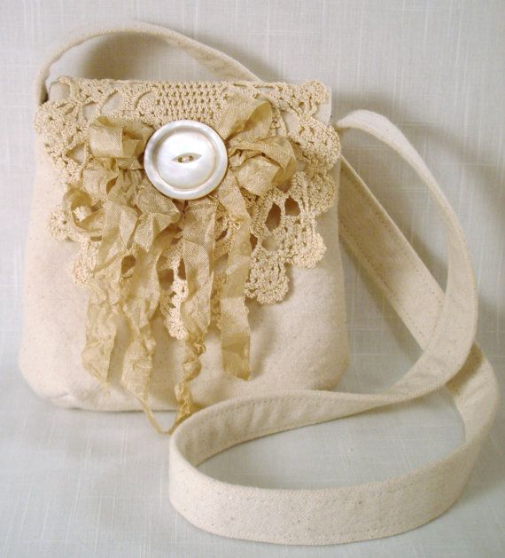 Wonderful Flea Market Antiquing Purse Pouch by sewmanyroses, $28.00