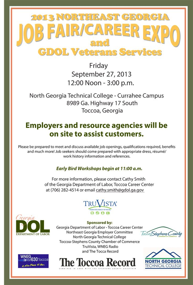 The Department of Labor's (GDOL) Toccoa Career