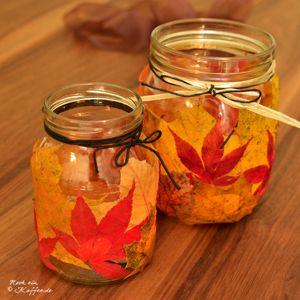 Herbstlich und schön gemütlich – Selbstgemachte Windlichter – Pia